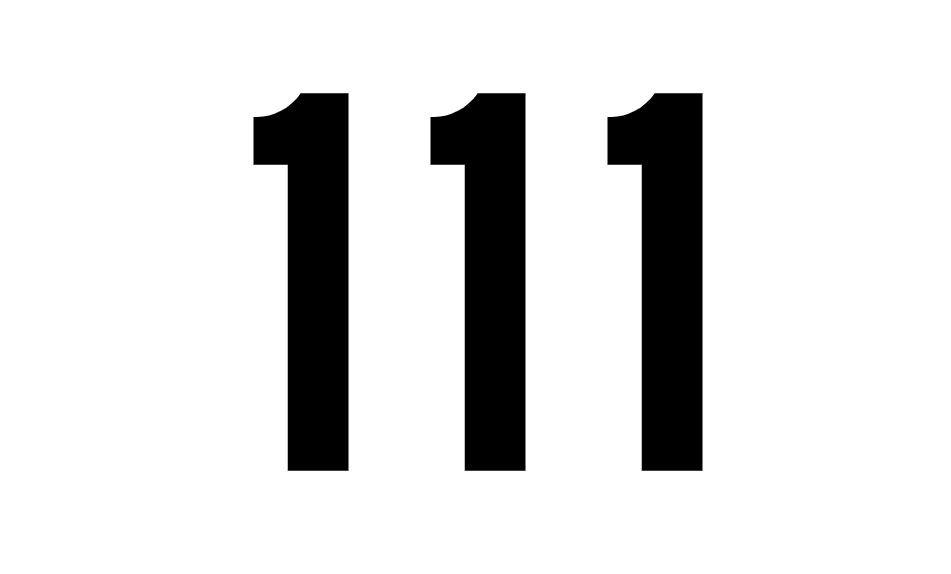 Numerologi 111